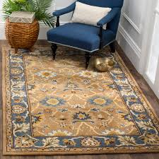 Blue Area Rugs 5x8 Safavieh Heritage Collection Camel And Blue Area Rug 5x8