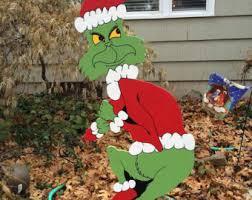 grinch lawn decoration grinch yard etsy