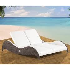 Double Chaise Lounge Chair Domus Ventures Luxor Double Sunlounger Chaise Lounge Hayneedle
