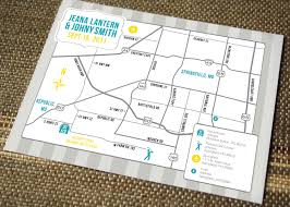 Direction Cards For Wedding Invitations Wedding Map Modern Design Wedding Details Pinterest