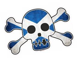 Scottish County Flags Pirate Style Skull U0026 Crossbones With Scotland Scottish Saltire
