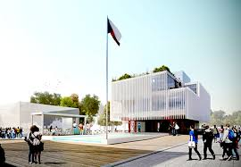 amazing home design 2015 expo czech republic s prefab pavilion is built around a swimming pool