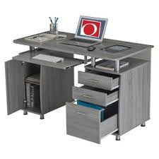 Offic Desk Modern Designs Grey Mdf Multifunctional Office Desk With File