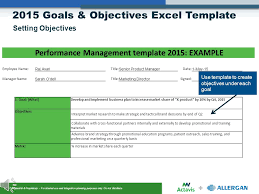 Goals And Objectives Template Excel Goals Objectives Setting Ppt