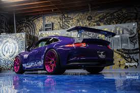 porsche pink ultraviolet purple porsche gt3 rs with pink advanced series wheels
