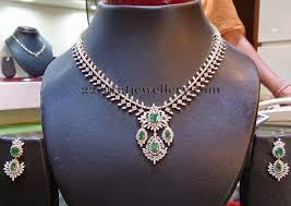 diamond set simple diamond set with earrings jewellery designs