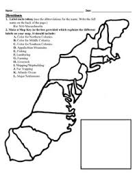 13 colonies map project 8 5x11 by alexis forgit tpt