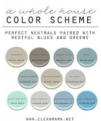 Color Palettes For Home Interior A Whole House Color Scheme Clean Mama Home Ideas Pinterest
