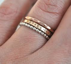 engraved stackable rings stack set of personalized tiny stacking rings ring and