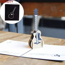 musical cards 3d pop up guitar greeting card christmas birthday