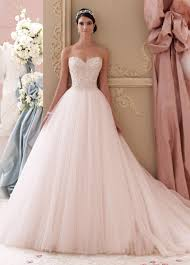 blush wedding dress strapless blush pink embroidered a line wedding dress 115250 luca