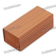 unique wood style grain paperboard leather glasses box