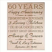 15 year anniversary gift for him 60th wedding anniversary wall plaque gifts for