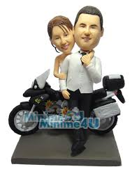 motorcycle wedding cake toppers motorcycle wedding cake topper mini me dolls custom wedding