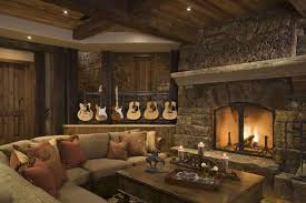 Living Room  Amazing Rustic Living Room Design With Brown - Wood living room design