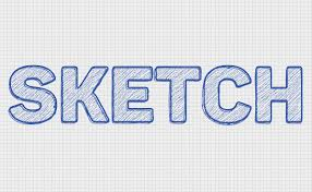 how to create a quick sketch text effect in adobe photoshop
