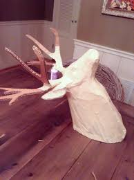 imperfectly imaginable diy paper mache deer head for around 20