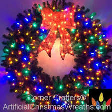 multi colored led christmas lights 5 foot multi color l e d christmas wreath