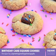 birthday cake square cookies square organics