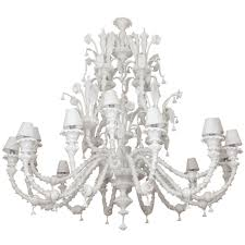 Chandeliers For Sale Uk by Saturday Sale Enormous Milk Glass Murano 16 Light Chandelier At