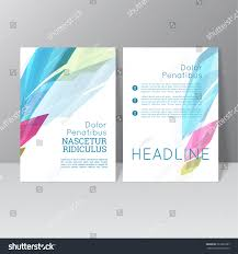 vector brochure template design colored crystals stock vector