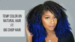 what type of hair is use for big box braids how to use temporary hair color on natural hair ft big chop hair