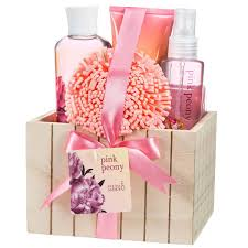 bathroom gift basket ideas amazon com pink peony spa bath gift set box health u0026 personal care