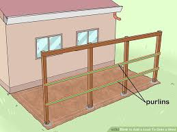 How To Build A Lean To On A Pole Barn 6 Ways To Add A Lean To Onto A Shed Wikihow