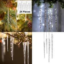 glass icicle ornaments ebay