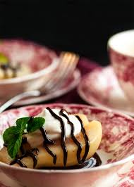 cuisine mascarpone poached pears with mascarpone just a bit of bacon