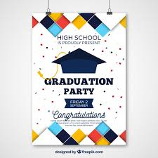 graduation poster graduation party poster with colored squares free vector my