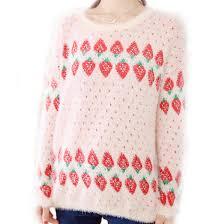 strawberry sweater m i l k t e a s