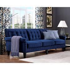 jonathan navy velvet sofa by tov furniture tov s77 tov