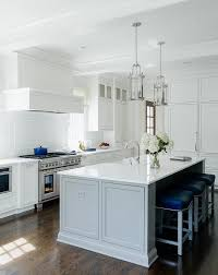 white kitchen island with stools gray kitchen island with blue stools transitional kitchen
