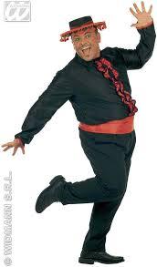 flamenco shirt w waist sash fancy dress costume spanish