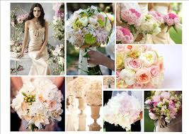 Colors That Go With Pink Pink Green Peach Or Ivory Flowers Will Enhance The Champagne