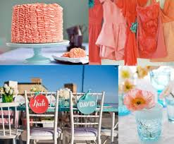 coral wedding decorations to make cheerful wedding room