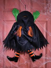 Halloween Decorations Outdoor by Amazon Com Fun World Funny Backwards Witch Orange Hanging