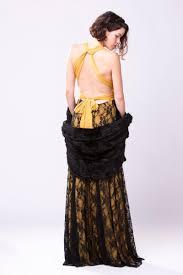 great gatsby mustard yellow bridesmaid dress boho vintage lace