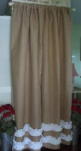 Curtains With Ruffles Natural Tan Burlap Curtains Curtain With Tabs Extraordinary Best