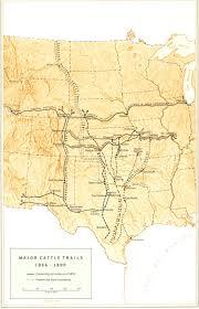 Western Montana Map by Great Western Cattle Trail Wikipedia