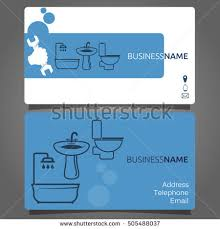 Telephone Icon For Business Card Business Card Plumbing Services Business Stock Vector 505488037