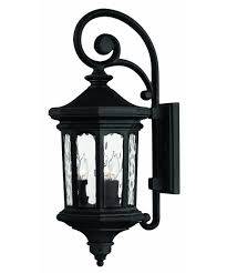 Outdoor Wall Sconce With Motion Sensor Hinkley Lighting 1604 Raley 10 Inch Wide 3 Light Outdoor Wall