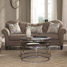 Camel Back Settee Coaster Carnahan Traditional Sofa With Tufted Reverse Camel Back