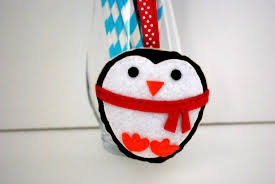 penguin sewing kit christmas ornament felt hand sewing kit