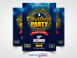 christmas party flyer template free psd flyer psd
