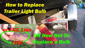 how to replace brake light on a boat trailer how to install