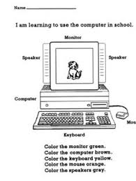 computer parts computers worksheets and 2nd grade worksheets