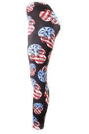 American Flag Skull American Flag Sugar Skull Leggings