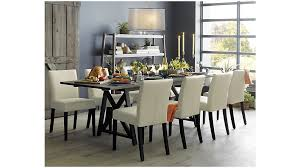 crate and barrel dining table set lowe ivory leather dining chair reviews crate and barrel